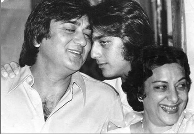 Sunil, Sanjay and Nargis Dutt