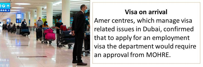 visa on arrival for new job