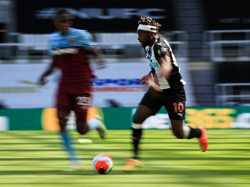 Newcastle United's French midfielder Allan Saint-Maximin