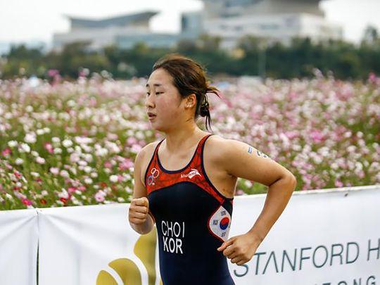 South Korean triathlete Choi Suk-hyeon