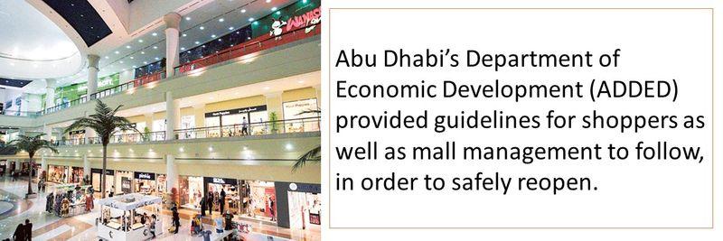 Abu Dhabi malls guidelines