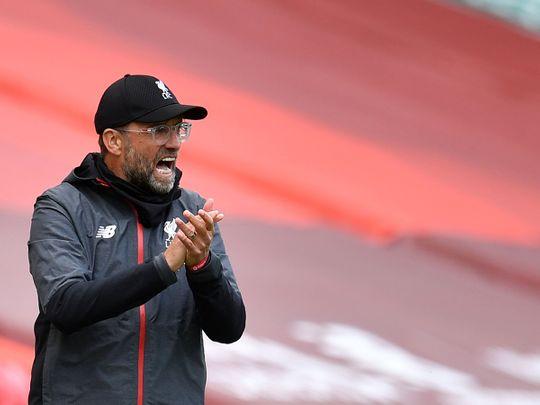 Jurgen Klopp during Liverpool's win over Aston Villa