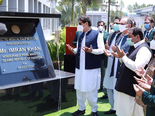 Pakistan's Prime Minister Imran Khan ventilator