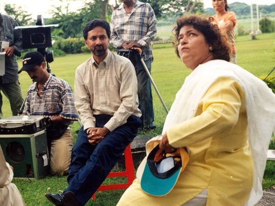 Shahzad Gul with Saroj Khan shooting for GHAR KAB AAO GE-1594022574163