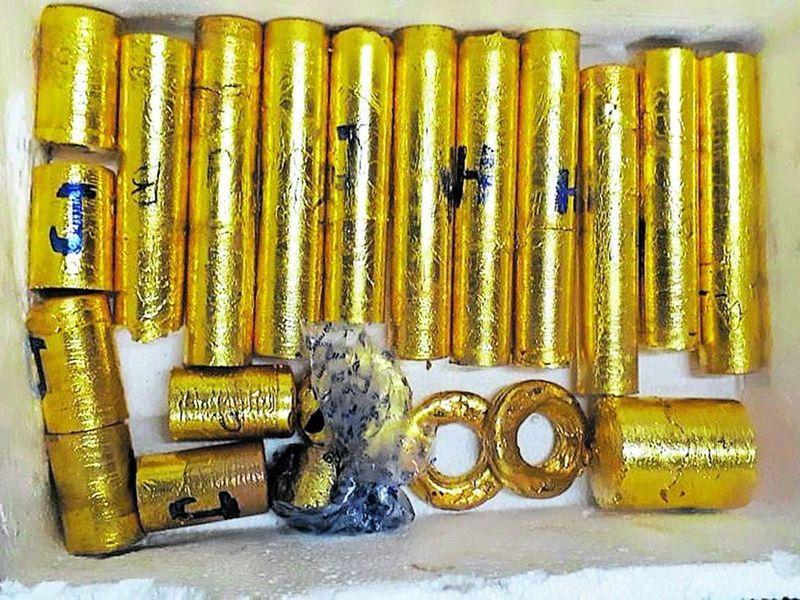 The smuggled gold weighed over 30-kg