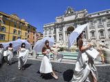 Italy wedding protest