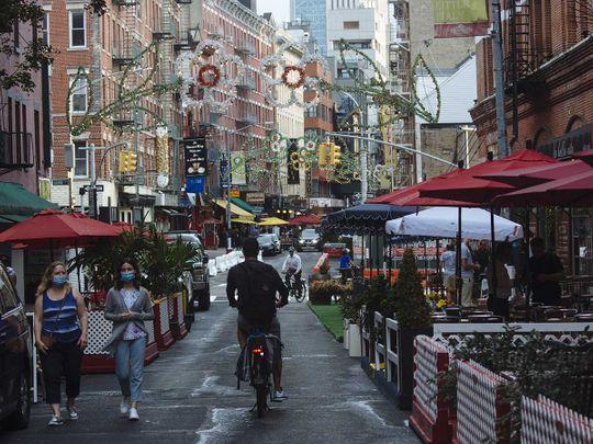 New York dining street Little Italy