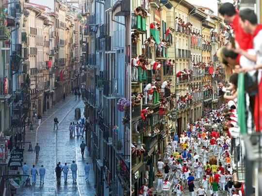 Spain Bull run San Fermin festival