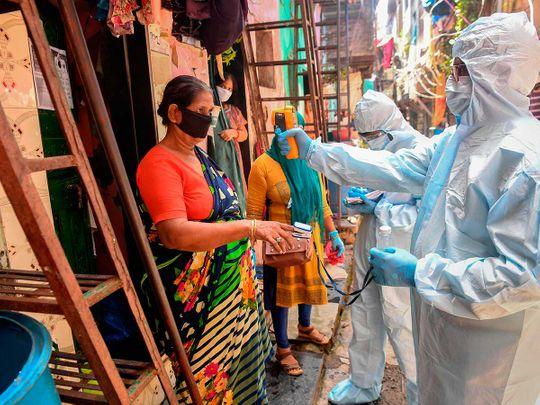 dharavi slum Mumbai medical staff