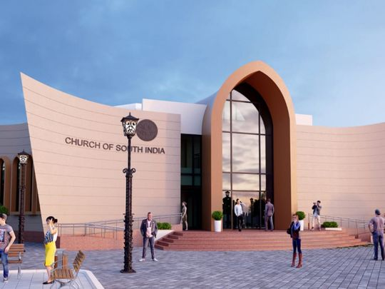 Artists impression of the church in Abu Dhabi