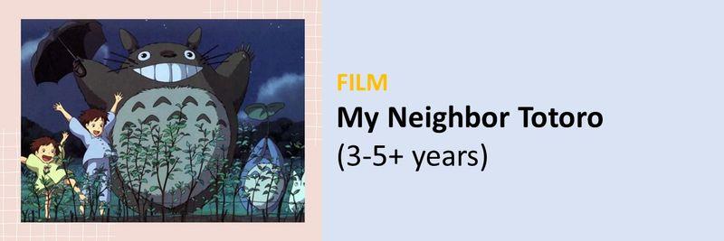 BC Books movies for UAE kids leaving Totoro
