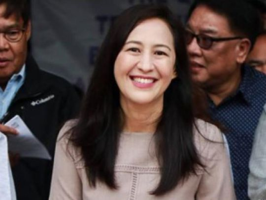 Mayor Joy Belmonte of Quezon City, Manila, Philippines.