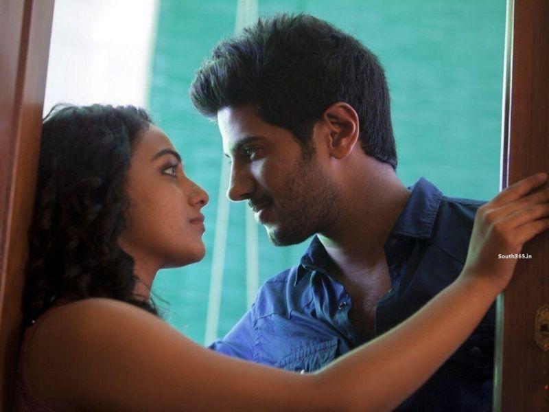 Nithya Menen with Dulquer Salmaan in 'OK Kanmani'