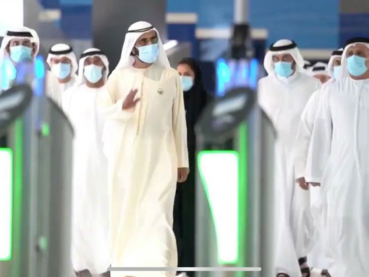 gulfnews.com - Ashfaq Ahmed - Dh11 billion Dubai Metro Red Line extension project launched connecting the Expo 2020 site