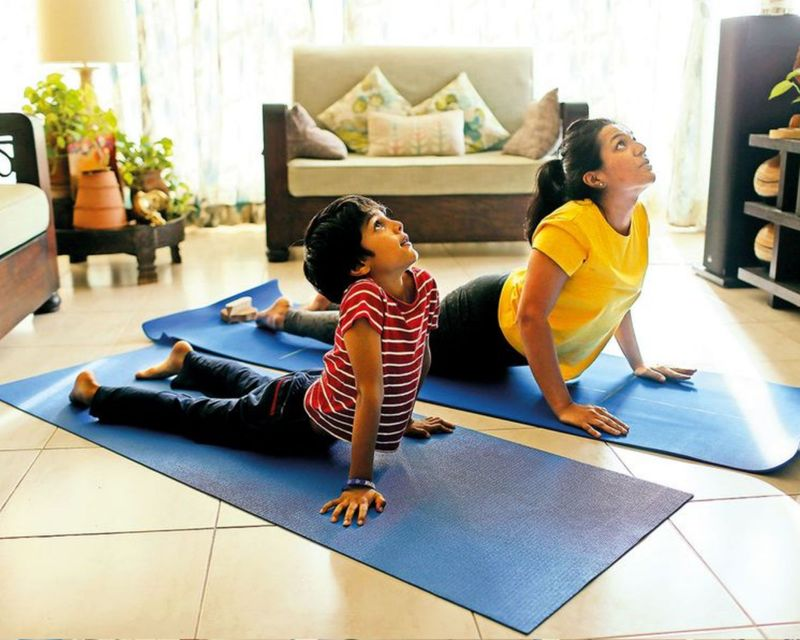 Stay at home yoga at home