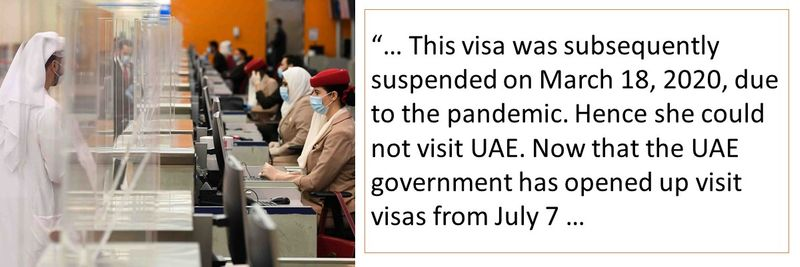 Unused UAE visit visa