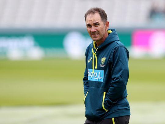 Australia head coach Justin Langer