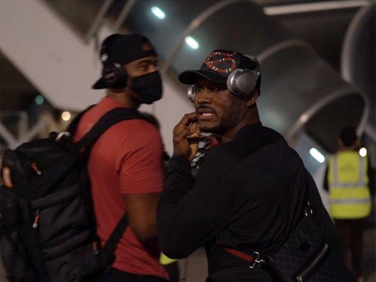 Kamaru Usman arrives in Abu Dhabi