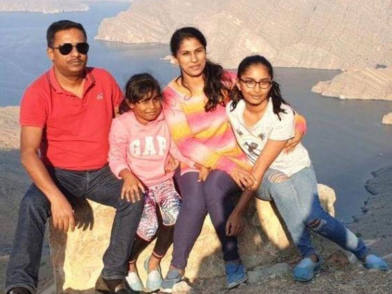 Vidya with her family