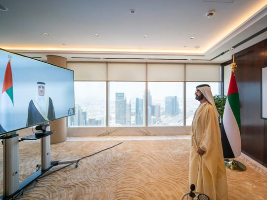 Sheikh Mohammed swears in UAE's new cabinet virtually
