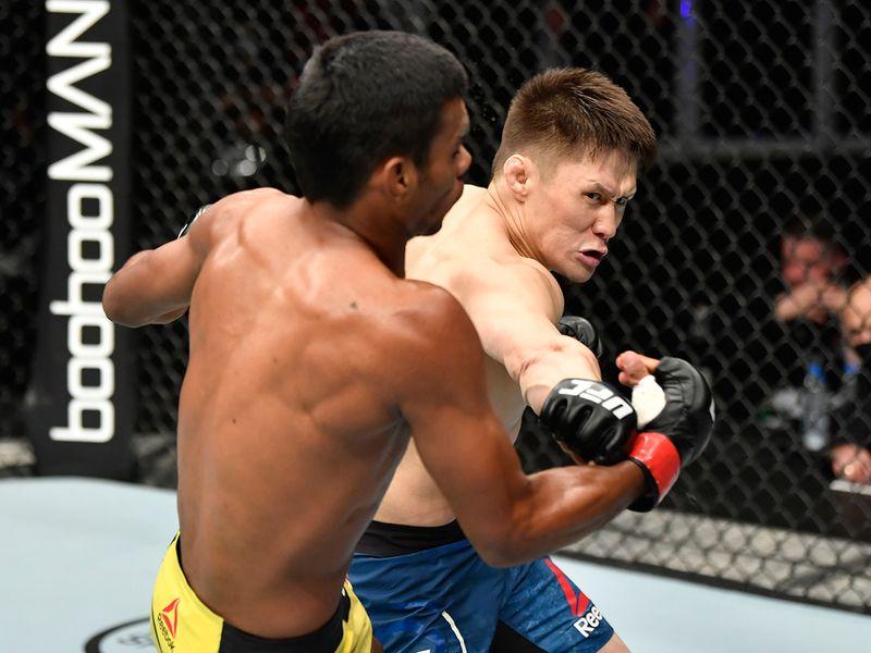 Division: Flyweight Raulian Paiva (20-3 MMA, 2-2 UFC) def. Zhalgas Zhumagulov (13-4 MMA, 0-1 UFC)