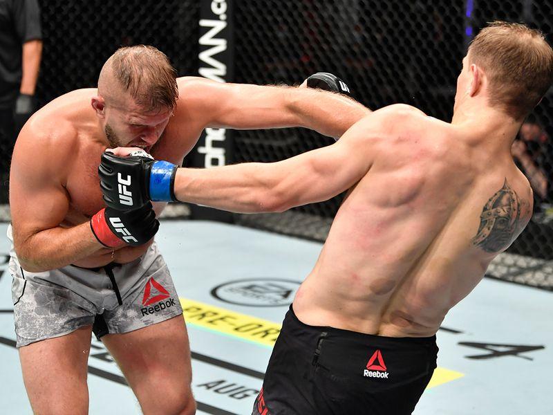Division: Heavyweight - Marcin Tybura (19-6 MMA, 6-5 UFC) def. Maxim Grishin (30-8-2 MMA, 0-1 UFC), via unanimous decision (30-27, 30-27, 30-26)