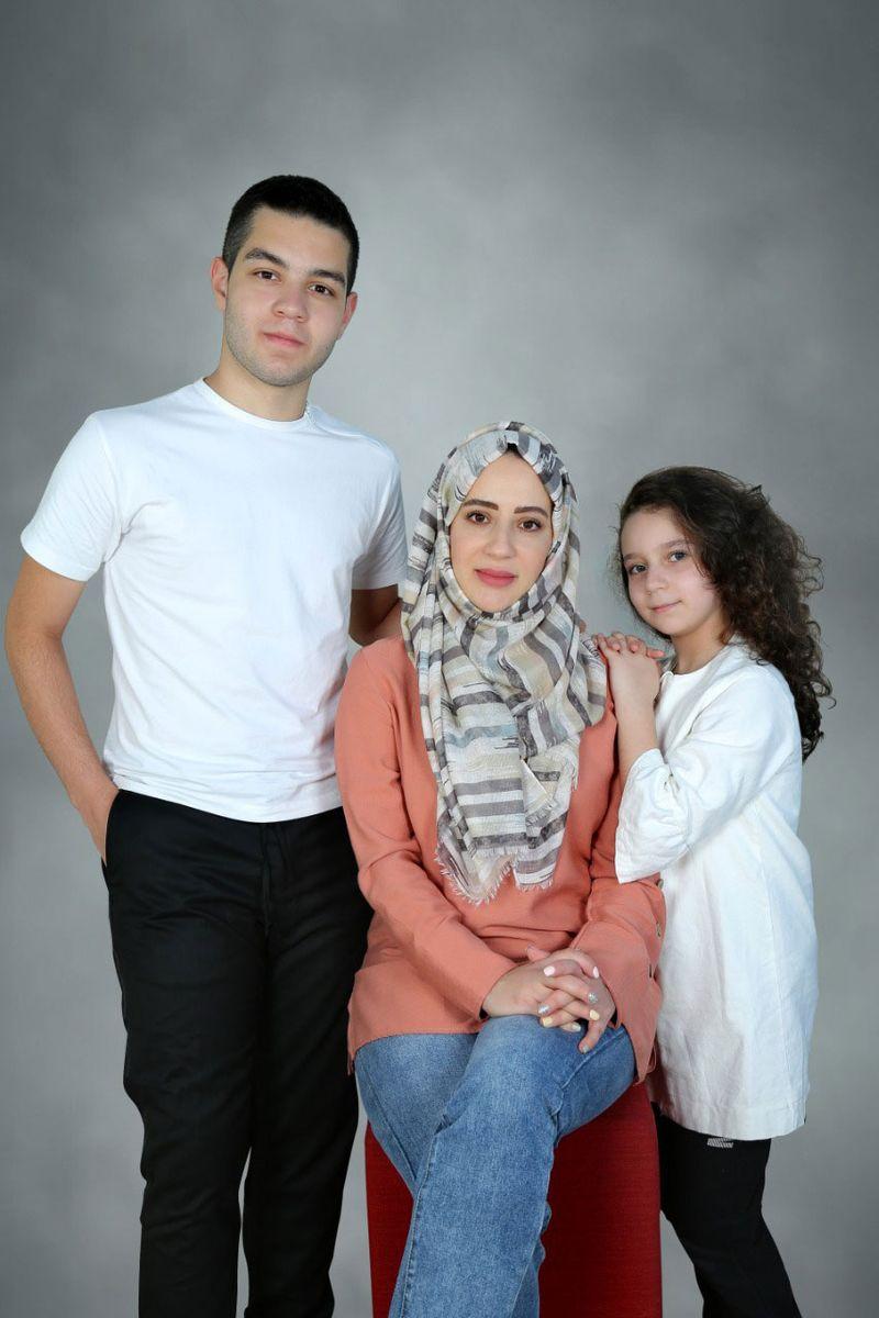 Lina Matar and children