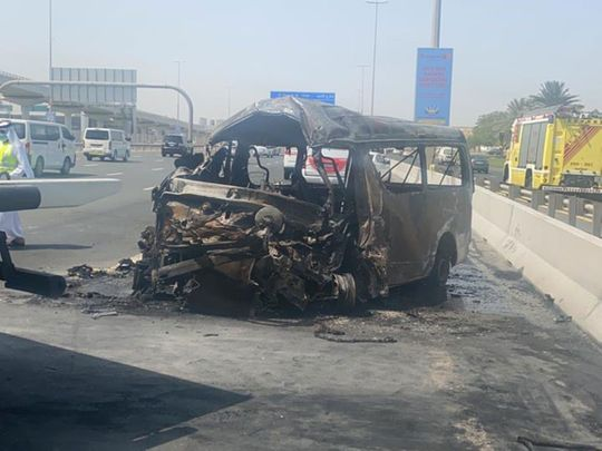 Two died, 12 injured in Sunday's minibus crash on Sheikh Zayed Road