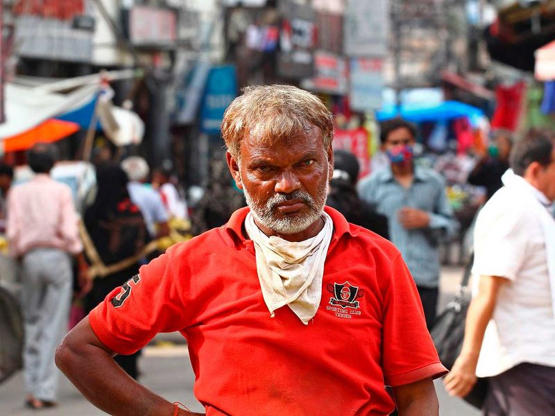 Allahabad handkerchief mask India