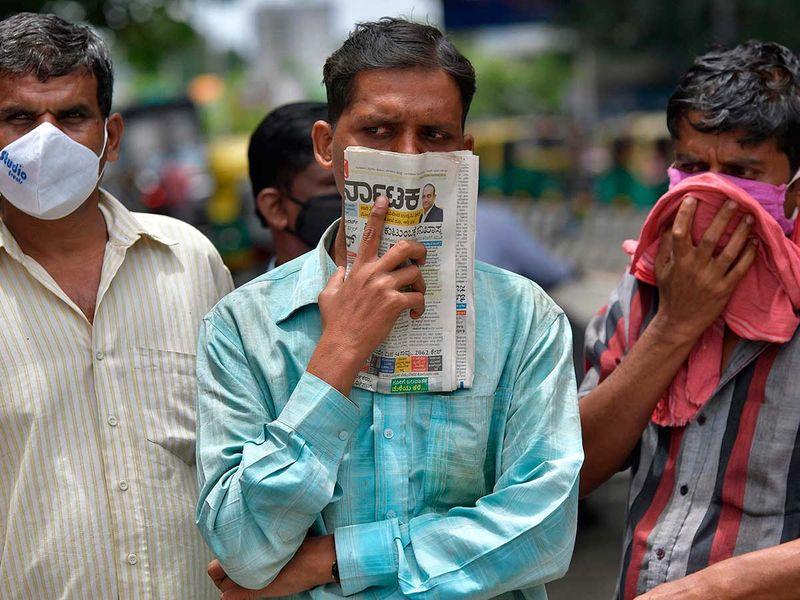 BANGALORE newspaper mask India