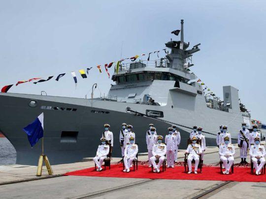 Chief of the Naval Staff Admiral Zafar Mahmood Abbasi Pakistan Navy Ship Yarmook  karachi