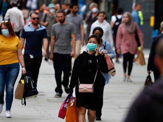 UK mask shopper Oxford Street