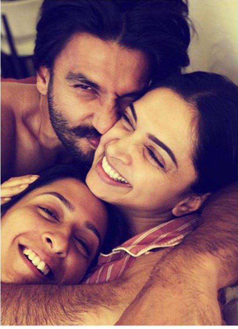 Anisha Padukone, Ranveer Singh and Deepika Padukone