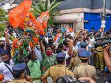 BJP workers Kerala protest Swapna Suresh