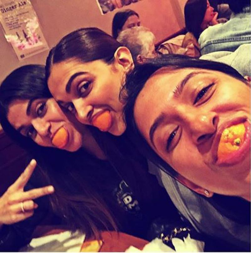 Deepika Padukone with sister and a friend
