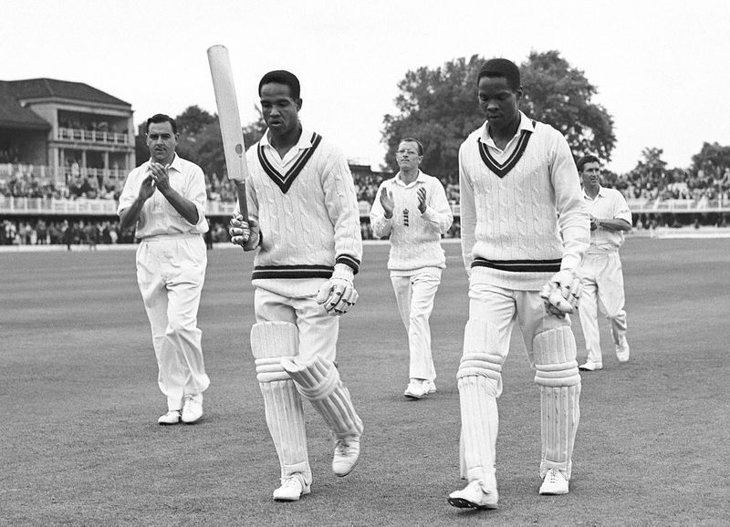 Garry Sobers and David Holford leave the field, England v West Indies, Lord's, 4th day, June 20, 1966  ©PA Photos