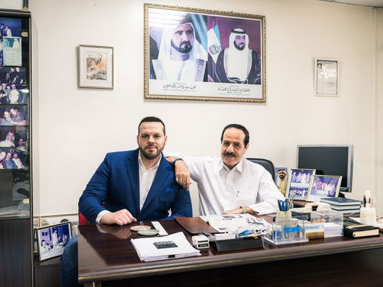 Jamal and Mohammed Al Mawed in their office