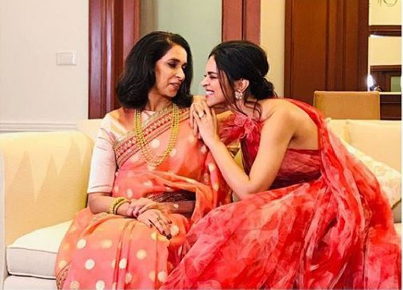 Ujjala and Deepika Padukone