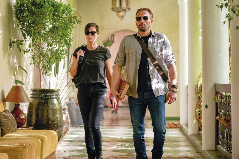 Charlize Theron and Matthias Schoenaerts in The Old Guard