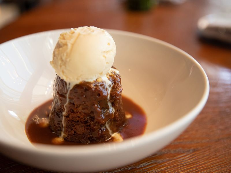 Dhow and Anchor sticky toffee pudding