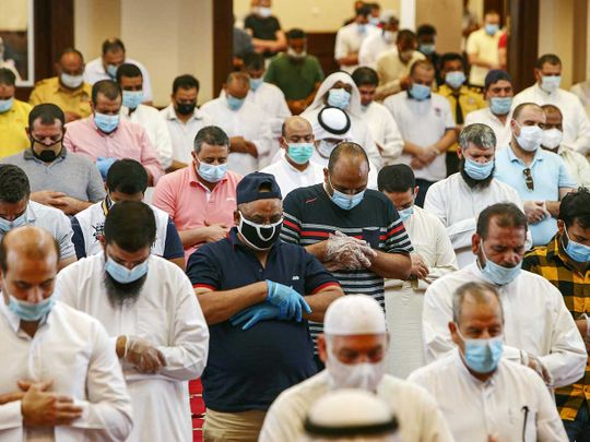 Kuwait prayers mosque
