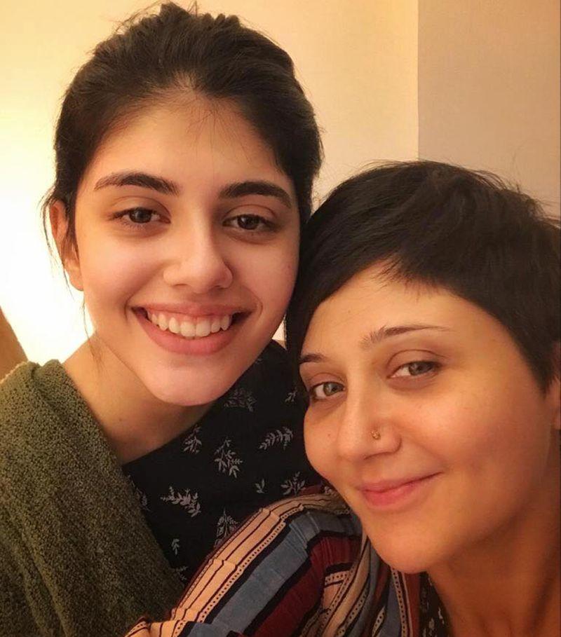 Swastika Mukherjee with her 'Dil Bechara' co-sar, Sanjana Sanghi