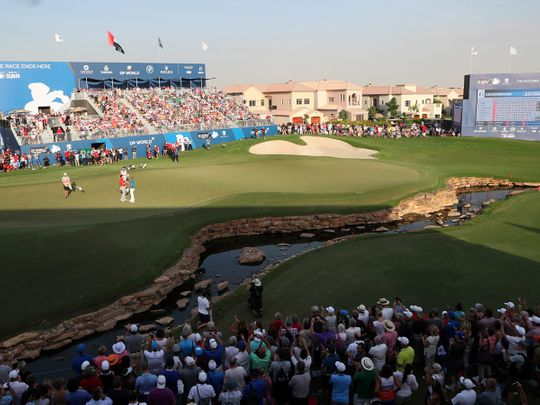 The DP World Tour Championships in Dubai is popular with the golf fans
