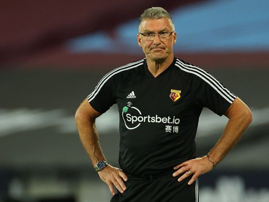 Watford boss Nigel Pearson was less than happy against West Ham