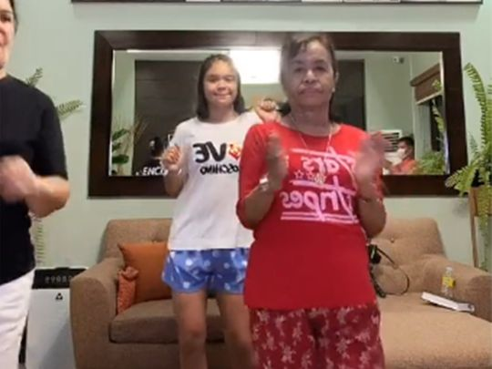 Dionesia Dapidran-Pacquiao dances on Tik Tok with Manny's daughter Mary