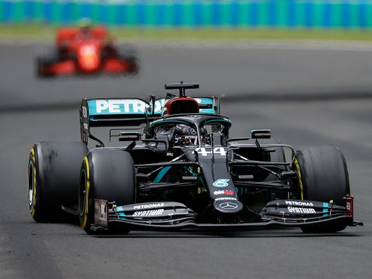 Lewis Hamilton marched to a record eighth Hungarian GP title