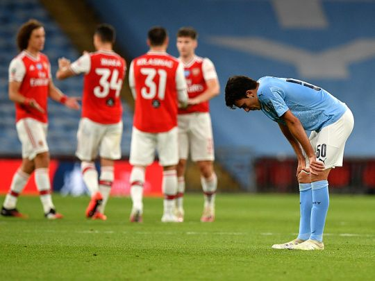Manchester City's Eric Garcia after the FA Cup semi-final loss to Arsenal