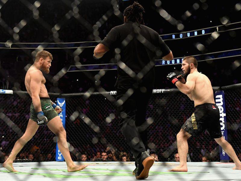 Conor McGregor and Khabib Nurmagomedov fought at UFC 229 in 2018.