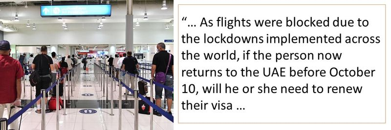 If i come back before October 10 will my visa still be valid?