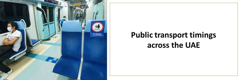 Public transport timings across the UAE